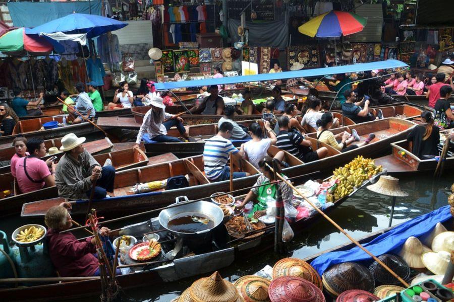 Tahailand Bangkok floating market