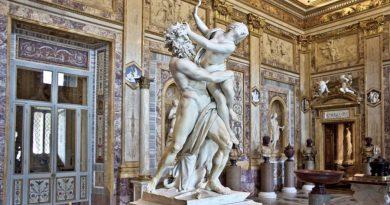 Italy Rome Galleria Borghese Rape of Proserpina