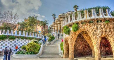 Spain Barcelona Gaudi park guell
