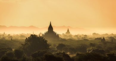 Myanmar Burma bagan temple-sunrise