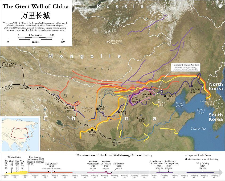 Vremenska i prostorna mapa Kineskog zida