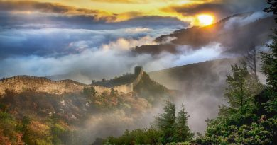 China Great wall of china sunrise