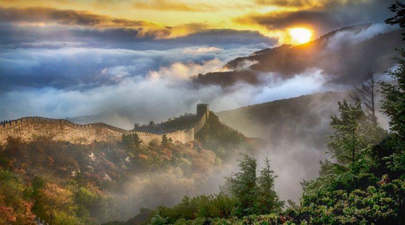 China Great wall of china sunrise