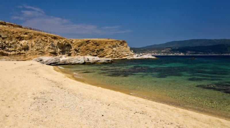 Greece Halkidiki Atos Ammouliani Donkey island beach
