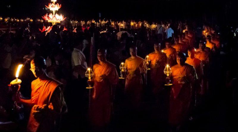 Thailand candle lit procession