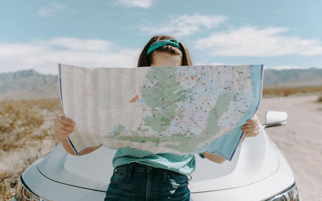 papirna mapa za putovanje
