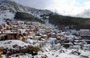 Greece Samothraki Chora during winter
