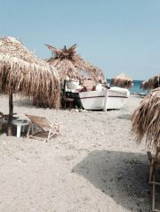 Greece Samothraki Therma beach