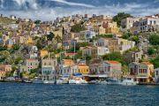 Greece Symi houses