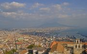Italy Naples areal view