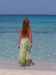Formentera girl on the beach