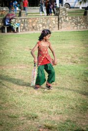 Sri Lanka Colombo Galle Face Green cricket girl dancing