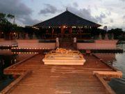 Simamalaka shrine, on an island in Beira Lake