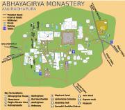 Sri Lanka Anuradhapura Abhayagiri monastery map