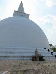 Sri Lanka Anuradhapura Mirisawetiya stupa Buddha statue