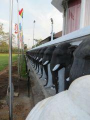 Sri Lanka Anuradhapura Ruwanwelisaya stupa guardian elephants