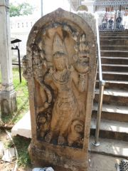 Sri Lanka Anuradhapura Thuparamaya stupa guardian stone