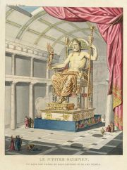 Seven wonders - Statue of zeus at Olympia, drawing by Quatremère de Quincy