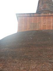 Sri Lanka Anuradhapura Jethawanaramaya stupa monkeys on stupa