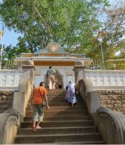 Sri Lanka Anuradhapura Sri Maha Bodhi Bo-tree entrance
