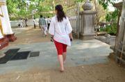 Sri Lanka Anuradhapura Sri Maha bodhi Bo-tree walking around