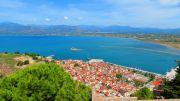 Greece Peloponnese Nafplio old town