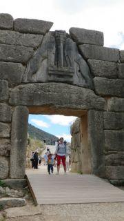 Greece ancient Mycenae lion gate