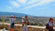 Greece Athens Acropolis me and mini me