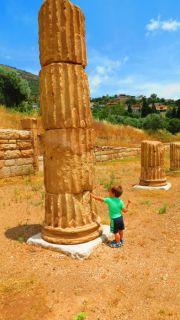 Greece Peloponnese ancient Messene columns