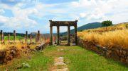 Greece Peloponnese ancient Messene stadium gymnasium