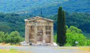 Greece Peloponnese ancient Messene stadium mausoleum