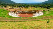Greece Peloponnese ancient Messene theatre