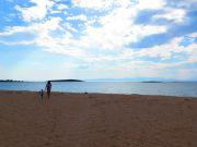 Greece Peloponnese Elafonisos alone on Panagia beach