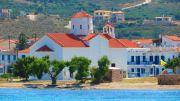 Greece Peloponnese Elafonisos church