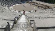 Greece Peloponnese Epidaurus amphitheatre acoustics