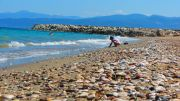 Greece Peloponnese Kyparissia town beach