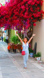 Greece Peloponnese Nafplio colorful streets
