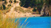 Greece Peloponnese Voidokilia beach crystal clear waters