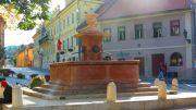 Serbia Sremski Karlovci fountain four lions
