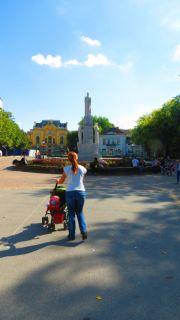 Serbia Subotica monument to emperor Jovan Nenad