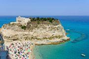 Italy Calabria Tropea Marasusa beach