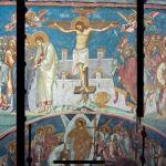 Serbia Visoki Decani monastery - fresco Crucifixion of Christ