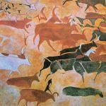 Algeria Tassilin Ajjer national park cave painting cattles