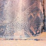 Algeria Tassilin ajjer national park gravure girafe