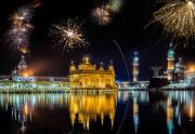 India Amritsar Golden temple diwali fireworks