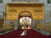 India Amritsar Golden temple entrance